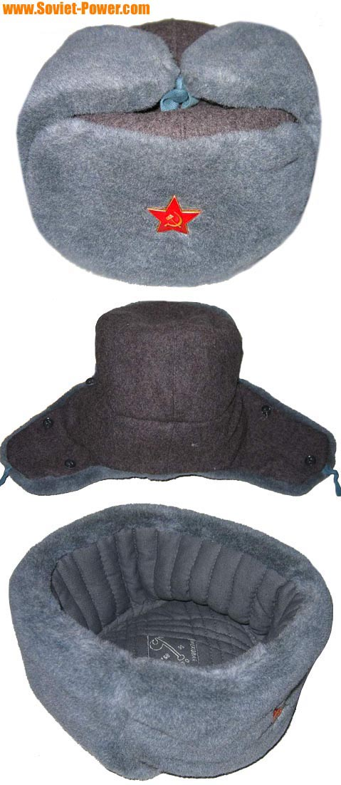Soviet Army soldiers USHANKA Russian winter hat